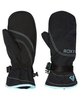 TRUE BLACK BOARDSPORTS SNOW ROXY GLOVES - ERJHN03071KVJ0