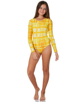 YELLOW TYE DYE BOARDSPORTS SURF MUNSTER KIDS GIRLS - MM191OP06YLWTD
