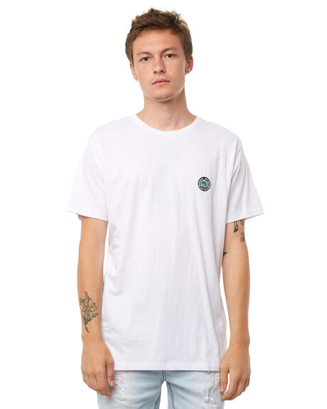 WHITE MENS CLOTHING BARNEY COOLS TEES - 125-CR1WHT