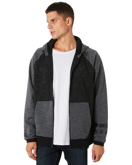 BLACK HEATHER MENS CLOTHING HURLEY JUMPERS - AQ9140032