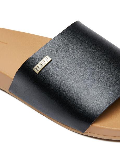 BLACK WOMENS FOOTWEAR REEF SLIDES - 0000BLA