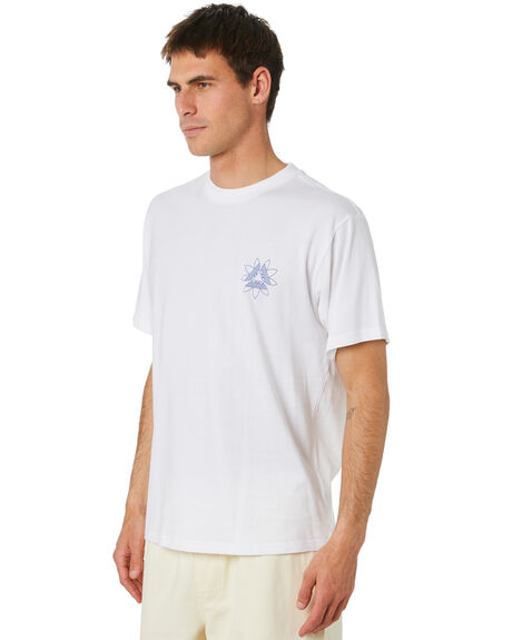 WHITE MENS CLOTHING ADIDAS TEES - GD3120WHT
