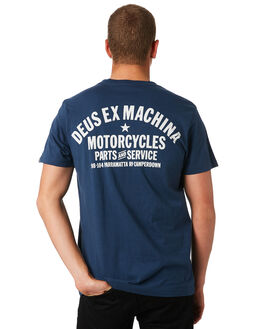 NAVY MENS CLOTHING DEUS EX MACHINA TEES - DMW41808ANVY