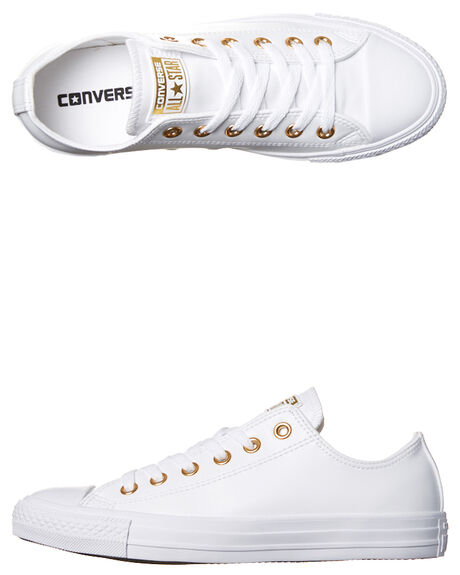 WHITE GOLD WOMENS FOOTWEAR CONVERSE SNEAKERS - 555963WHG
