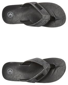 BLACK GREY MENS FOOTWEAR KUSTOM THONGS - 4956204TBKGY