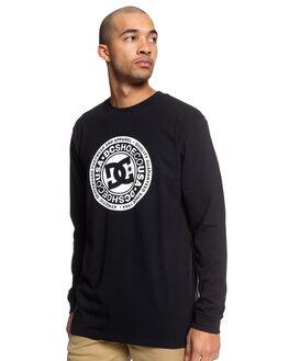 BLACK/WHITE MENS CLOTHING DC SHOES TEES - UDYZT03657-XBBW