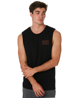 BLACK MENS CLOTHING RIP CURL SINGLETS - CTEUJ20090