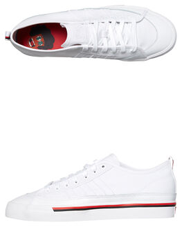 WHITE BLACK MENS FOOTWEAR ADIDAS ORIGINALS SKATE SHOES - CG5668WHI