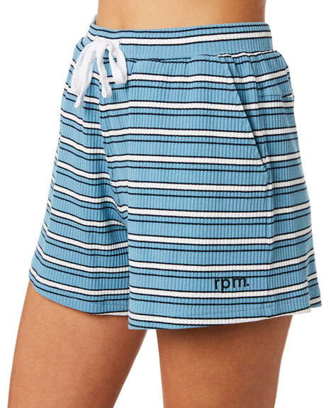 BLUE WHITE WOMENS CLOTHING RPM SHORTS - 9PWB01ABLUWH