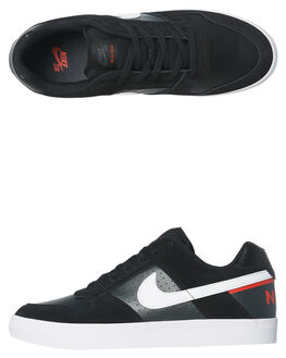 BLACK WHITE MENS FOOTWEAR NIKE SKATE SHOES - 942237-011