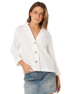 WHITE WOMENS CLOTHING THE HIDDEN WAY FASHION TOPS - H8184171WHITE