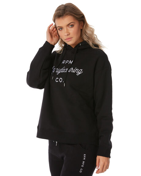 BLACK WOMENS CLOTHING RPM JUMPERS - 8WWT10ABLACK