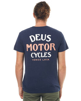 NAVY MARLE MENS CLOTHING DEUS EX MACHINA TEES - DMS71919DNMRL