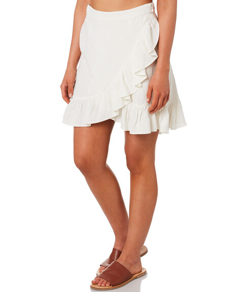 WHITE OUTLET WOMENS TIGERLILY SKIRTS - T392283WHT
