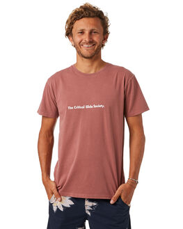 POMEGRANATE MENS CLOTHING THE CRITICAL SLIDE SOCIETY TEES - TE1856PGRNT