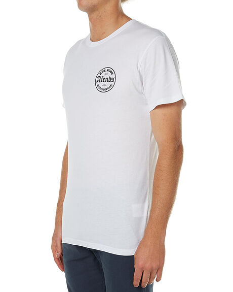 WHITE MENS CLOTHING AFENDS TEES - 01-01-255WHT