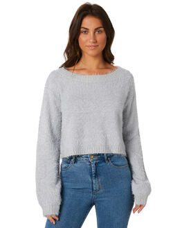 GREY WOMENS CLOTHING SOMEDAYS LOVIN KNITS + CARDIGANS - IL18F1807GREY