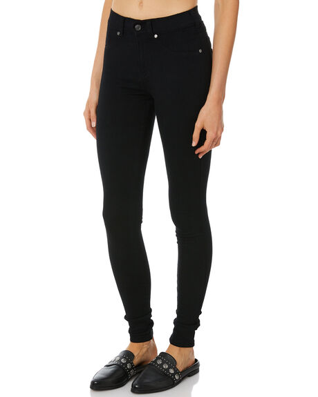 BLACK WOMENS CLOTHING DR DENIM JEANS - 1130101101