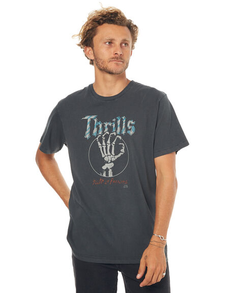 MERCH BLACK MENS CLOTHING THRILLS TEES - TS7-129MBMBLK
