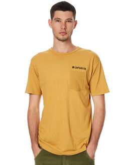 MUSTARD MENS CLOTHING CAPTAIN FIN CO. TEES - CT171074MUS