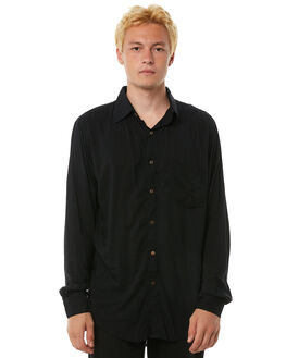 BLACK MENS CLOTHING THE PEOPLE VS SHIRTS - AW18068-BBLK