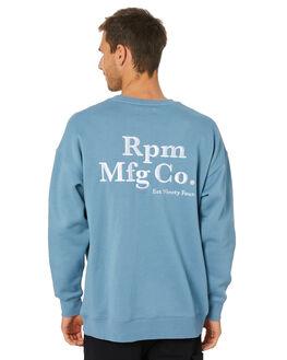 DUST BLUE MENS CLOTHING RPM JUMPERS - 20WM10B2DSBLU