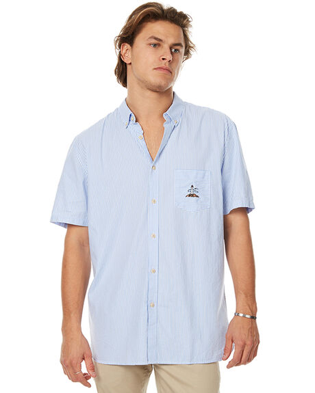 LIGHT BLUE MENS CLOTHING BARNEY COOLS SHIRTS - 308-MC2LTBLU