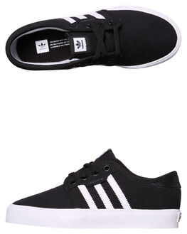 BLACK WHITE KIDS BOYS ADIDAS ORIGINALS SNEAKERS - BY3838BLK