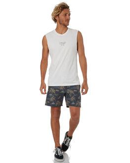WHITE MENS CLOTHING RHYTHM SINGLETS - OCT18M-PT12-WHT
