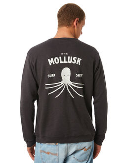 FADED BLACK MENS CLOTHING MOLLUSK JUMPERS - MS1783FDBLK