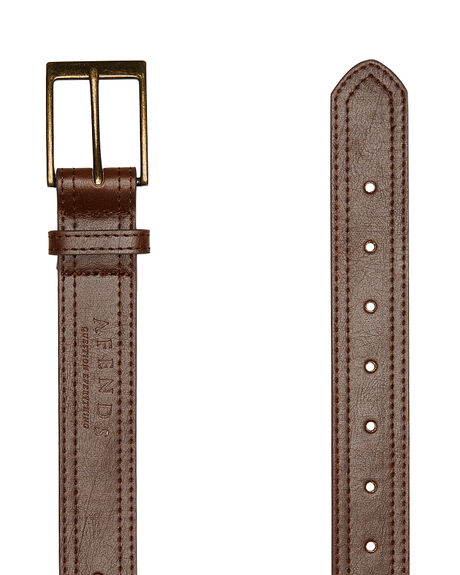 DARK BROWN MENS ACCESSORIES AFENDS BELTS - 14-02-005DBRN