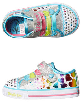 WHITE KIDS TODDLER GIRLS SKECHERS FOOTWEAR - 10719NWMLT