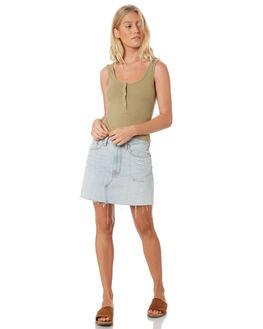SOFT KHAKI WOMENS CLOTHING TWIIN SINGLETS - IE19S1007KHA