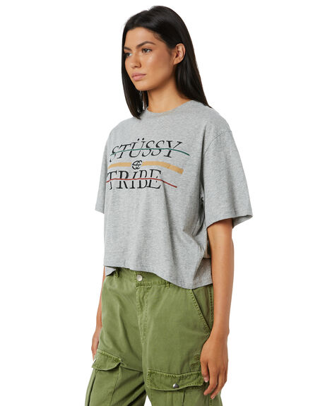 GREY MARLE WOMENS CLOTHING STUSSY TEES - ST195022GRMAR