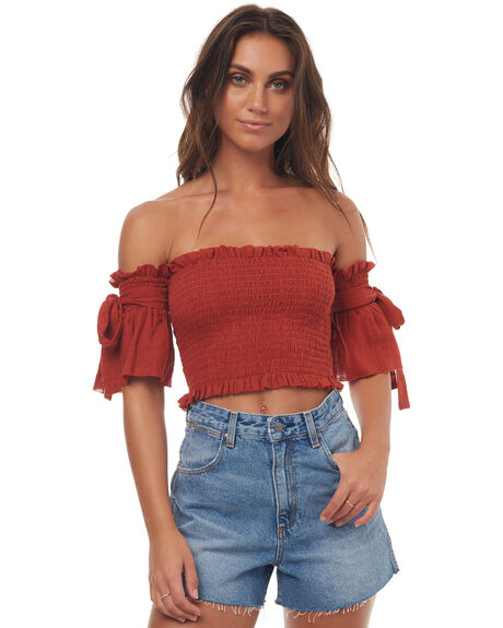 RUST WOMENS CLOTHING RUE STIIC FASHION TOPS - SRC1SRUST