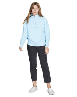 AIRY BLUE WOMENS CLOTHING QUIKSILVER JUMPERS - EQWFT03004-BFA0