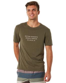 OLIVE MENS CLOTHING RHYTHM TEES - JUL18M-PT03OLI