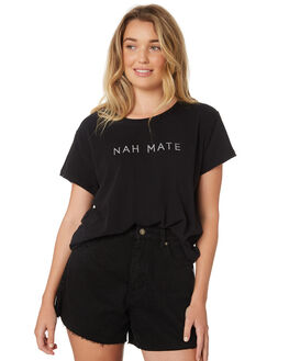 BLACK WOMENS CLOTHING ALL ABOUT EVE TEES - 6426143BLK