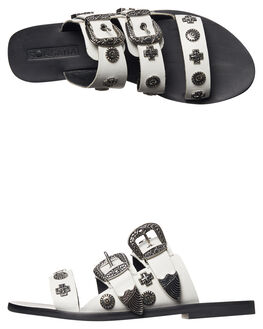 WHITE STUD WOMENS FOOTWEAR SOL SANA FASHION SANDALS - SS172S391WHT