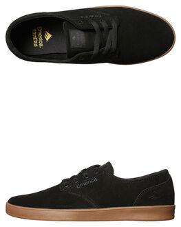 BLACK CHARCOAL MENS FOOTWEAR EMERICA SKATE SHOES - 6102000089-558