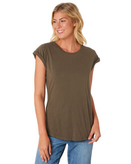 KHAKI WOMENS CLOTHING SILENT THEORY TEES - 6008046-KHAK