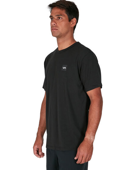 BLACK MENS CLOTHING RVCA TEES - RV-R307042-BLK