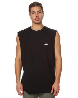 BLACK MENS CLOTHING BARNEY COOLS SINGLETS - 165-MC3BLK