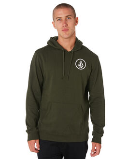 DARK GREEN MENS CLOTHING VOLCOM JUMPERS - A41118DKGRN