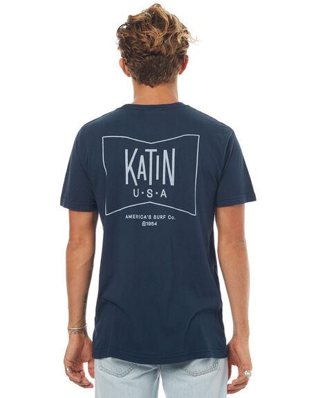 NAVY MENS CLOTHING KATIN TEES - TSGRUF16NVY