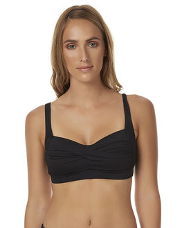 BLACK WOMENS SWIMWEAR NIP TUCK BIKINI TOPS - NT3035PBLK