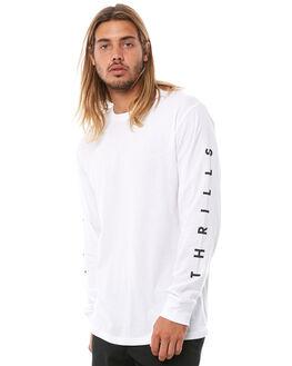 WHITE MENS CLOTHING THRILLS TEES - TA8-107AWHT