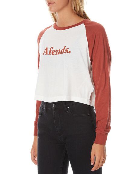 NATURAL BRICK WOMENS CLOTHING AFENDS TEES - 50-10-005NAT