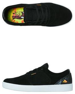 BLACK MENS FOOTWEAR EMERICA SKATE SHOES - 6102000123001