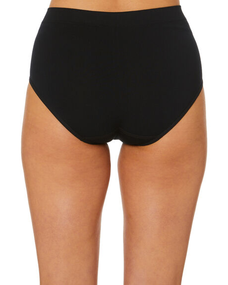 BLACK WOMENS CLOTHING NAT'V BASICS SOCKS + UNDERWEAR - CLBRIEFBLK